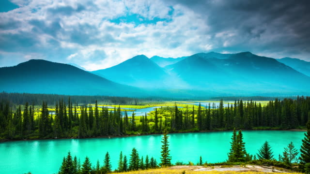 Time Lapse: Bow River in Banff National Park