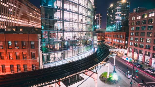 vídeos de stock, filmes e b-roll de time lapse: brightly lit denver city street  - mount evans road, colorado - brightly lit