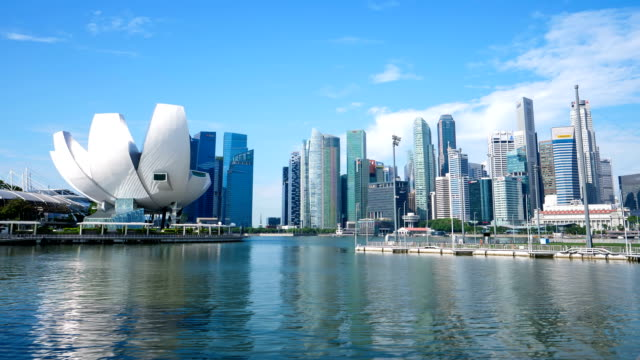 4k time lapse : building exterior at singapore - tower stock videos & royalty-free footage