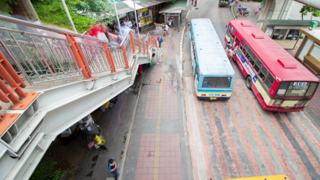 Tijd lapse bushalte