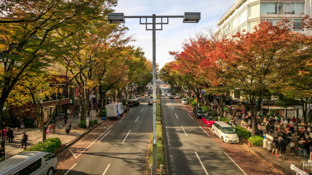 4k time lapse : busy harajuku street - roppongi stock videos and b-roll footage