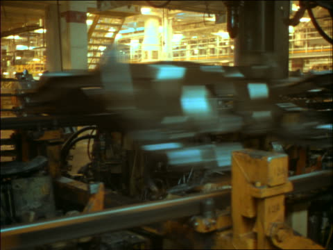 time lapse car factory assembly line - general motors stock videos & royalty-free footage