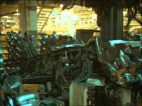 time lapse car factory assembly line