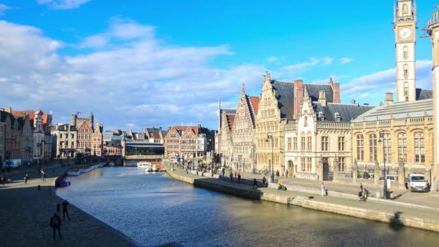 4 K Zeitraffer :  Zentrum von Gent