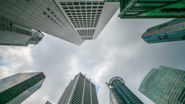4K Time Lapse : Central Business Singapore