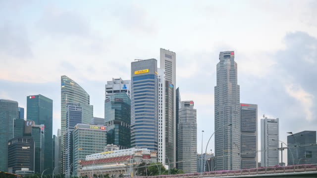 stockvideo's en b-roll-footage met 4k time-lapse: central business singapore - kapiteel