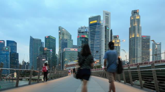 4K Time Lapse : Central Business Singapore