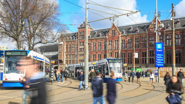 stockvideo's en b-roll-footage met 4k time-lapse: centraal station - train vehicle