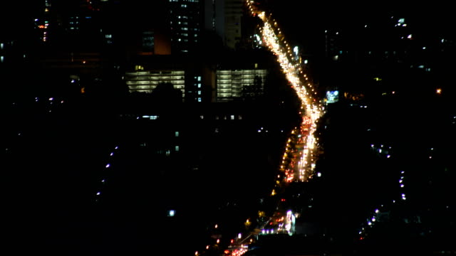 time lapse chiang mai , thailand cityscape from doi suthep chiangmai night view point - motorway junction stock videos & royalty-free footage