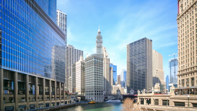 4K Time Lapse : Chicago River