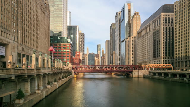 4K Time Lapse : Chicago skyline