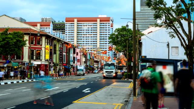 vídeos de stock, filmes e b-roll de lapso de tempo de alta definição: chinatown de cingapura - full hd format