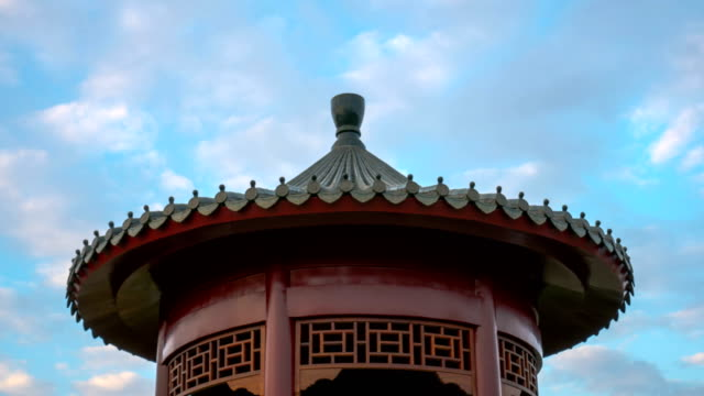 Time Lapse - Chinese Style Building with Cloudscape
