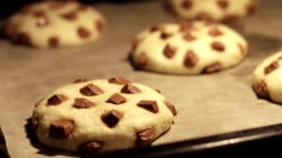 Time lapse - Chocolate Cookies Baking in the Oven