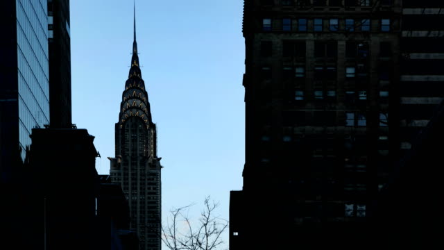 zeitraffer - chrysler building - chrysler building stock-videos und b-roll-filmmaterial