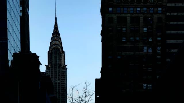 vídeos de stock, filmes e b-roll de lapso de tempo - edifício chrysler - prédio chrysler