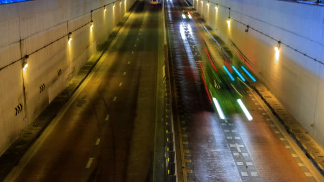 stockvideo's en b-roll-footage met time lapse stad rijden - tunnel