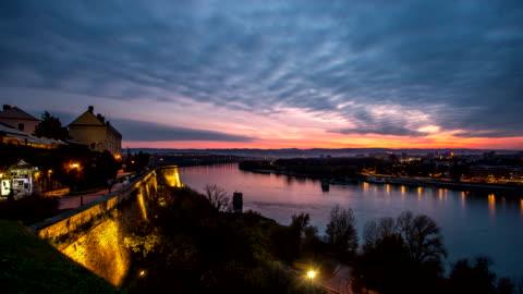 4k time lapse - city night - serbia stock videos & royalty-free footage