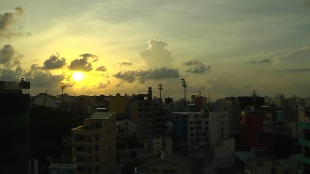 Time lapse city shot Male Maldives