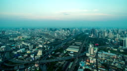Time Lapse : Cityscape of Bangkok City, Thailand