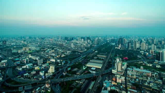 Zeitraffer: Stadtbild der Stadt Bangkok, Thailand