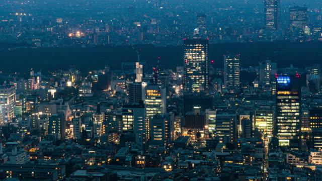 東京のタイムラプス都市景観。 - 昼から夜点の映像素材/bロール