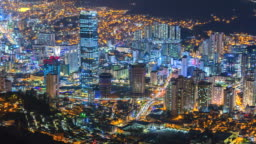 4K, Time lapse Cityscapes of Modern city at night of South Korea