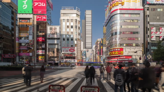 4K Time Lapse clip foule et voiture, trafic de tableau de concordance de Ginza, Tokyo-Japon city