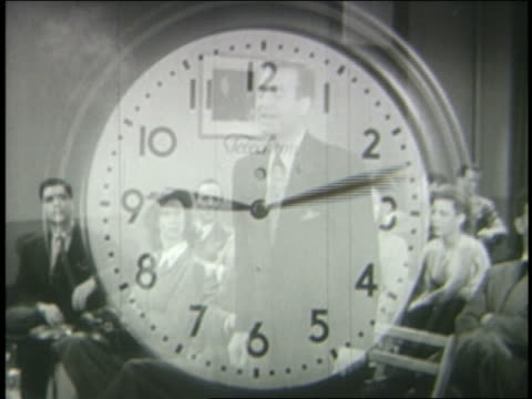 EXPOSURE time lapse clock moving over courtroom scenes