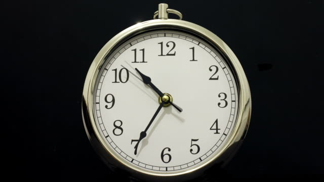 Time lapse Clock with Time going Forwards then Backwards