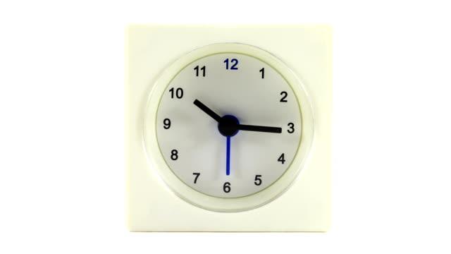 vídeos de stock e filmes b-roll de time lapse relógio tempo de trabalho 8 horas - número 8