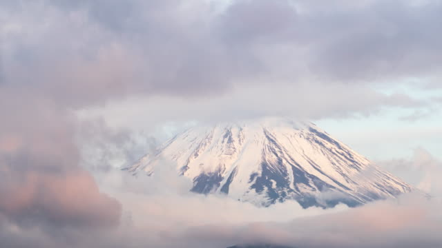 time lapse close up of mt fuji - mt fuji stock videos & royalty-free footage