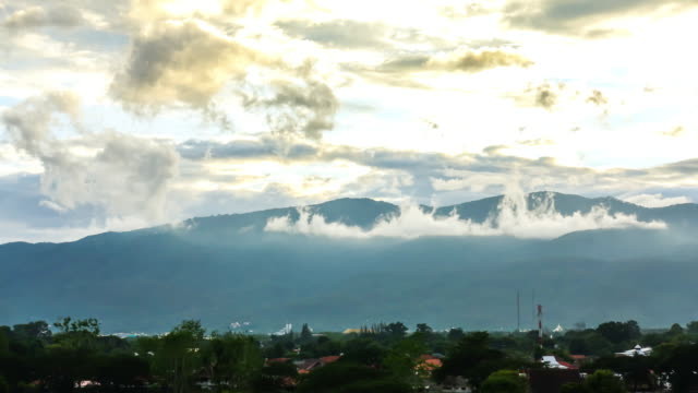 time lapse cloud and mountain view in chiangmaithailand - myanmar stock videos & royalty-free footage