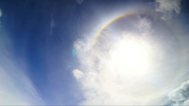 time lapse clouds and sun with halo hd - halo stock videos and b-roll footage
