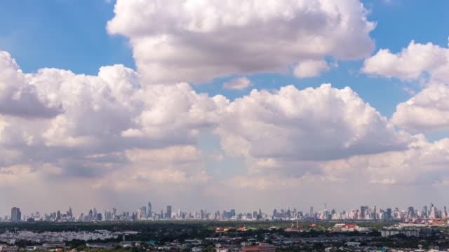 Zeitraffer Wolken Bewegung über Stadt