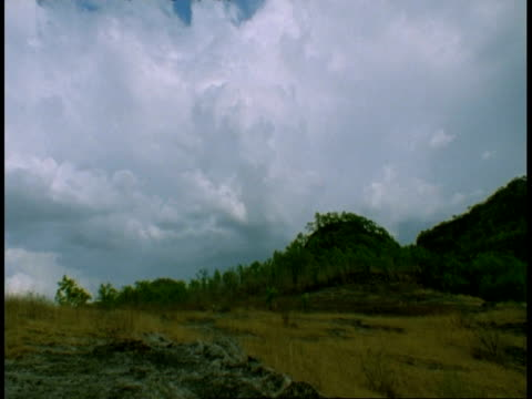 wa time lapse clouds moving above mountain, bandhavgarh national park, india - national icon stock videos and b-roll footage