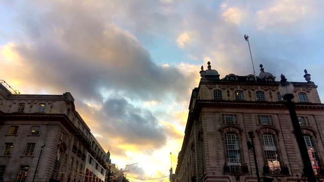 Time Lapse clouds over Piccadilly Circus, London, UK