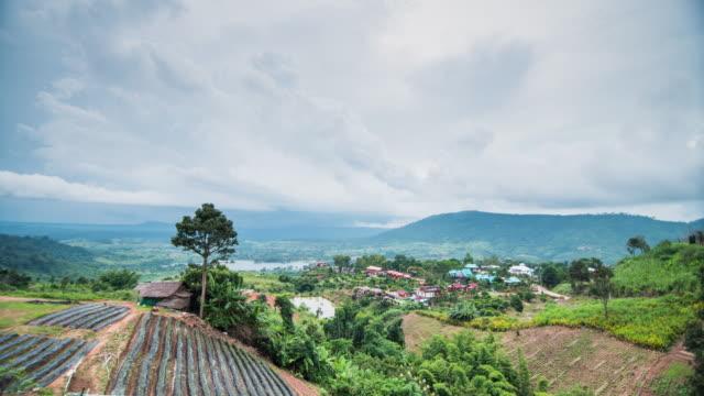 4 k time lapse (低速度撮影):雲模様のカオ kho ペッチャブーン、タイ - 密閉点の映像素材/bロール