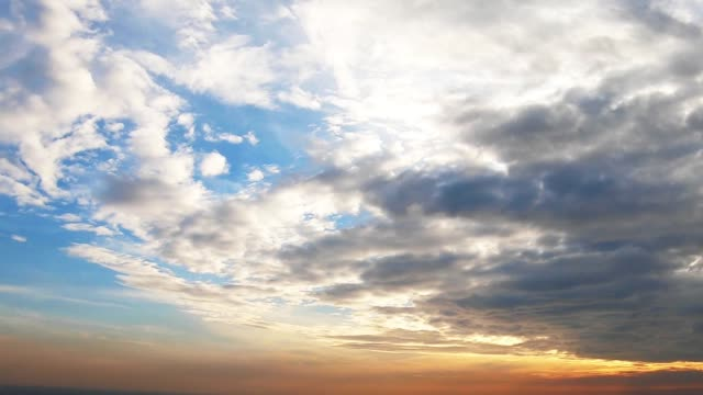 time lapse cloudscape over the city. - clear sky stock videos & royalty-free footage