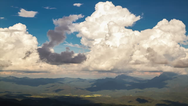 Time Lapse: Cloudscape Over the mountains