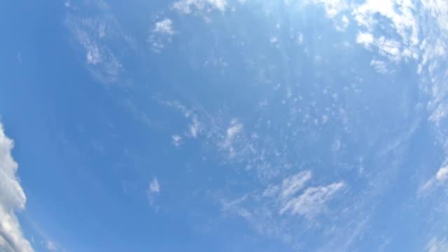 時間の経過 cloudscape - 魚眼撮影点の映像素材/bロール