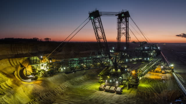 time lapse: coal mining - construction equipment stock videos & royalty-free footage