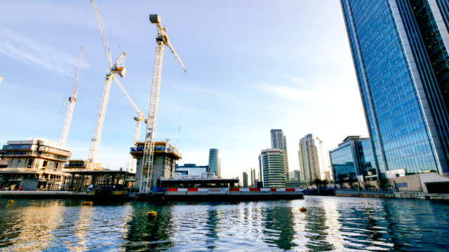 4K Time lapse construction site in London, UK
