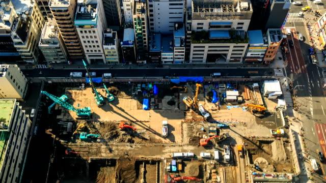 HD Time Lapse : Construction Site
