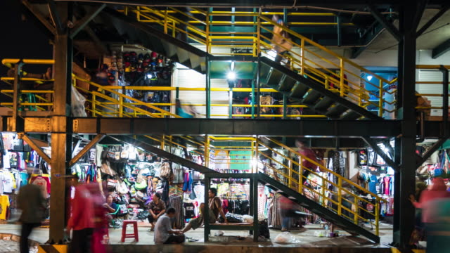 4K Time Lapse : crowd shopping in Yogyakarta