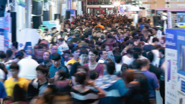 time lapse crowds of people - population explosion stock videos & royalty-free footage