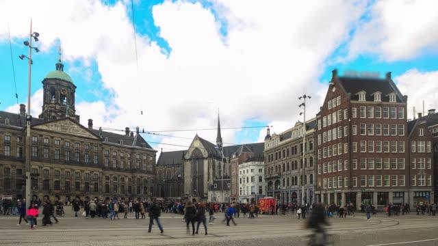 4K Time Lapse : Dam Square Amsterdam