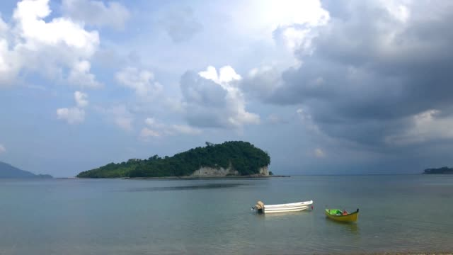 Time lapse day light Beautiful View of Iboih Beach, Sabang, Aceh, Indonesia