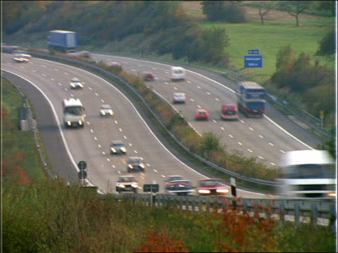 time lapse day to night heavy traffic on autobahn / germany - anno 1992 video stock e b–roll