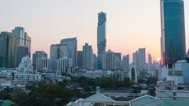 time lapse day to night of bangkok city, thailand - time of day stock videos and b-roll footage